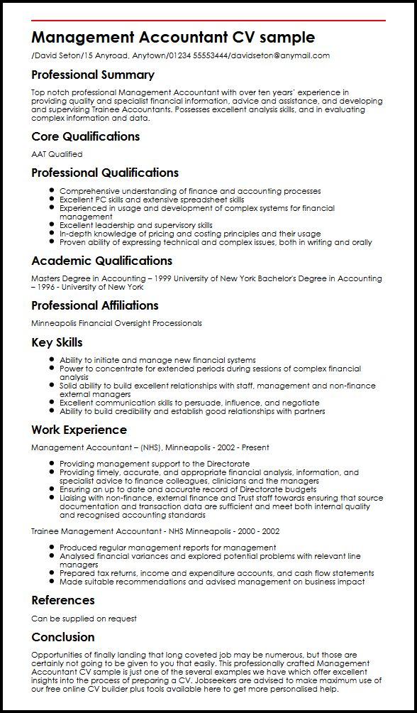 management accountant cv example myperfectcv knowledge skills and abilities resume sample Resume Knowledge Skills And Abilities Resume Sample