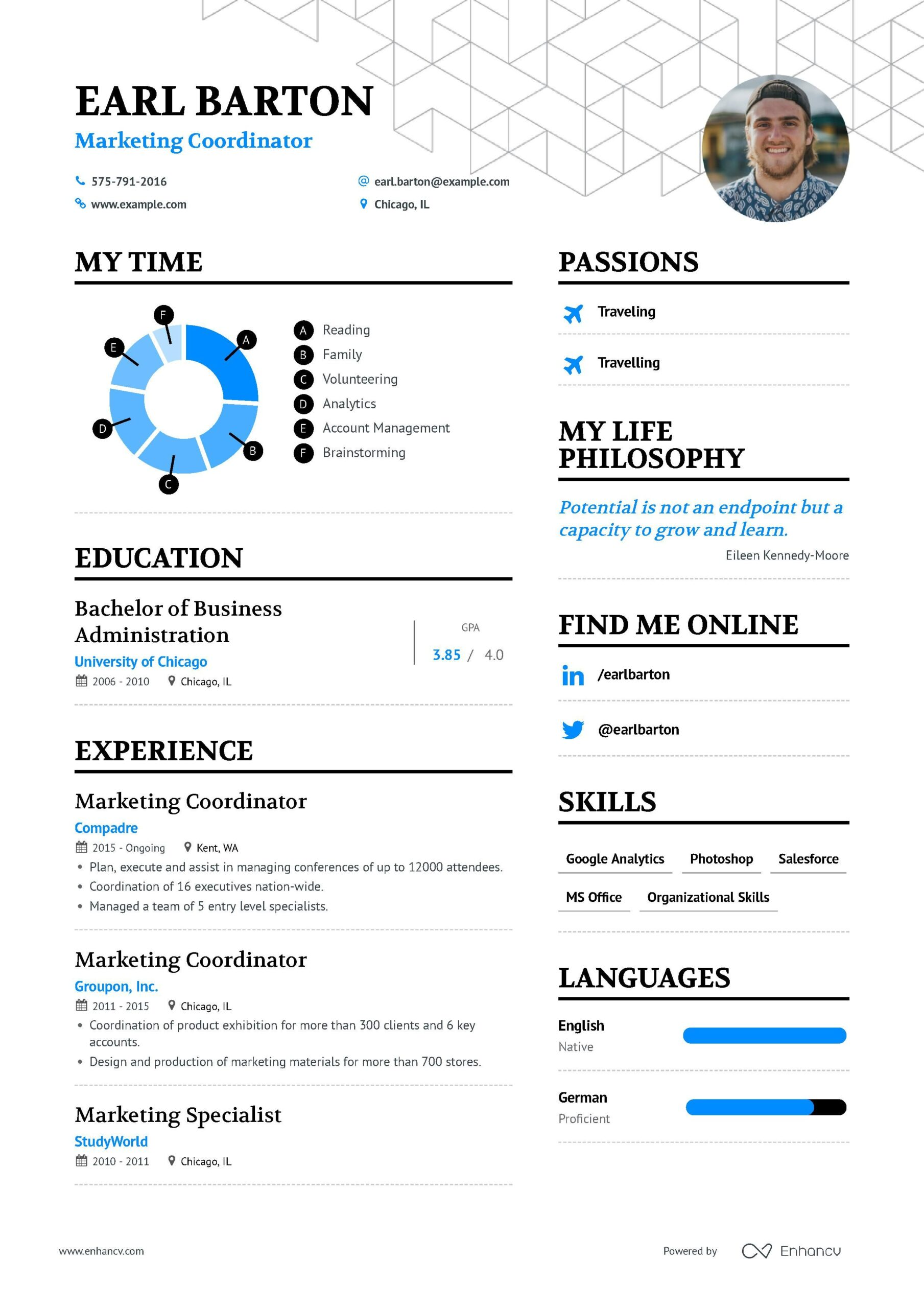 marketing coordinator resume example and guide for examples bms summary unemployed grad Resume Marketing Coordinator Resume