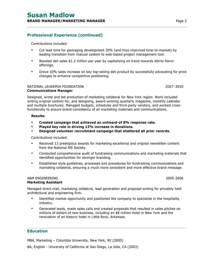 marketing manager resume free samples blue sky resumes examples susan madlow after sample Resume Marketing Manager Resume Examples