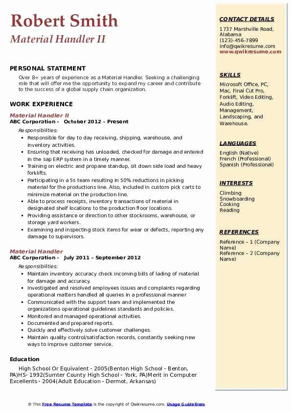 material handler job description resume luxury samples retail template examples Resume Material Handler Resume Examples