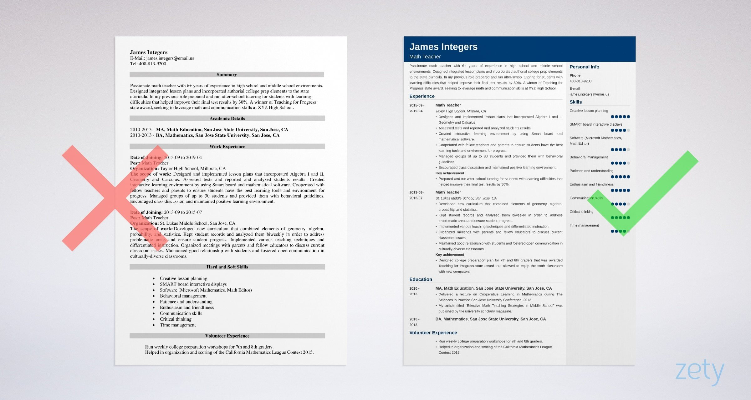 math teacher resume examples writing guide skills for example sample of aws solution Resume Skills For Math Teacher Resume