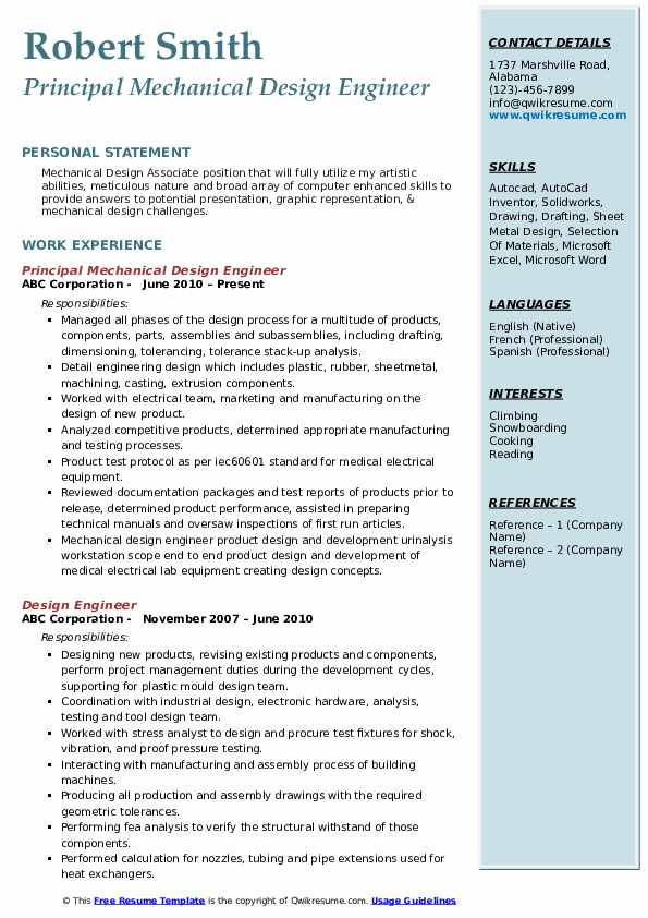 mechanical design engineer resume samples qwikresume word format pdf financial consultant Resume Mechanical Design Engineer Resume Word Format