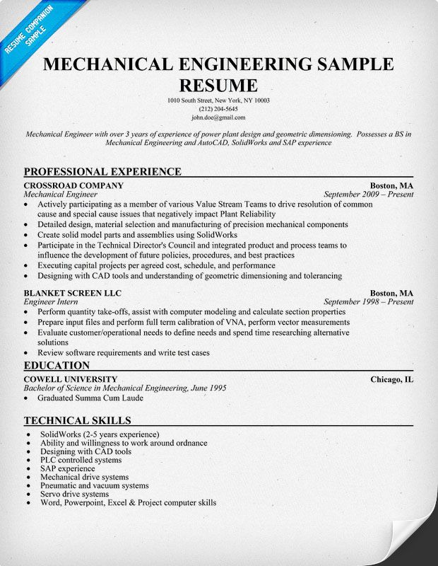 mechanical engineering fresher resume sample objective for engineer examples ideas Resume Objective For Resume For Fresher Mechanical Engineer
