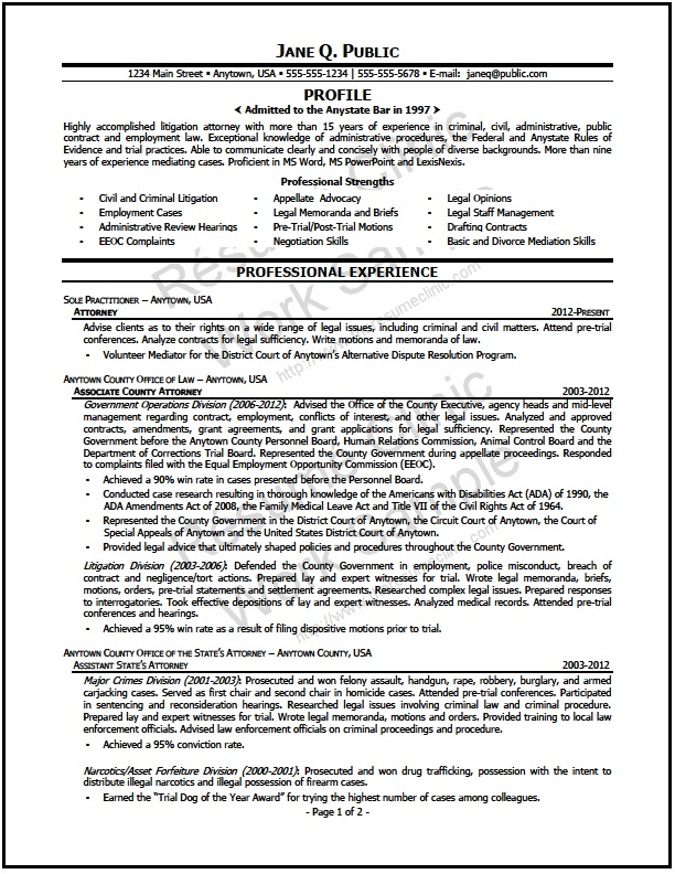 mediation attorney resume the clinic conflict resolution sample format for nursery school Resume Conflict Resolution Resume Sample