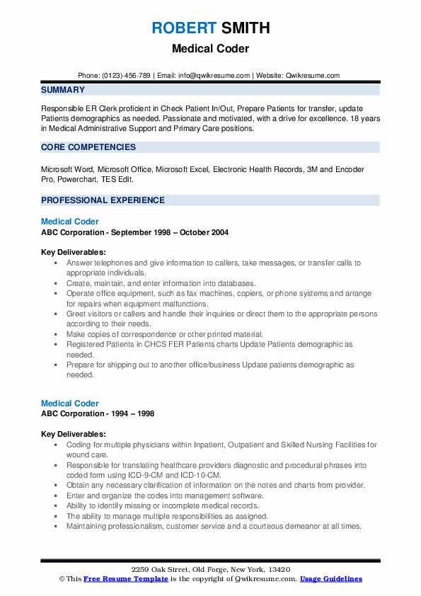 medical coder resume samples qwikresume coding experience pdf incident manager roles and Resume Coding Experience Resume