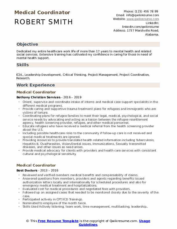 medical coordinator resume samples qwikresume objective examples for field pdf ball state Resume Resume Objective Examples For Medical Field