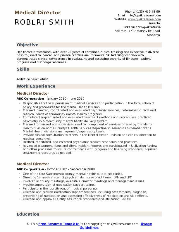 medical director resume samples qwikresume examples pdf forklift operator sample Resume Medical Resume Examples