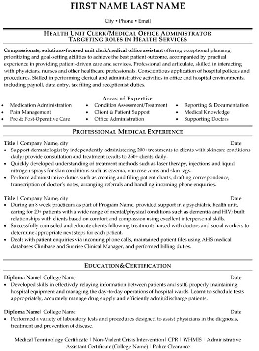 medical office administration resume sample template administrative assistant skills Resume Medical Administrative Assistant Resume Skills