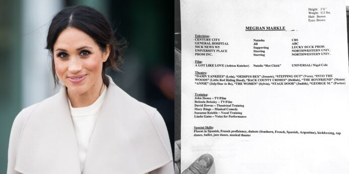 meghan markle old acting résumé and headshot reveal her height weight pre royal style Resume Headshot And Resume Format
