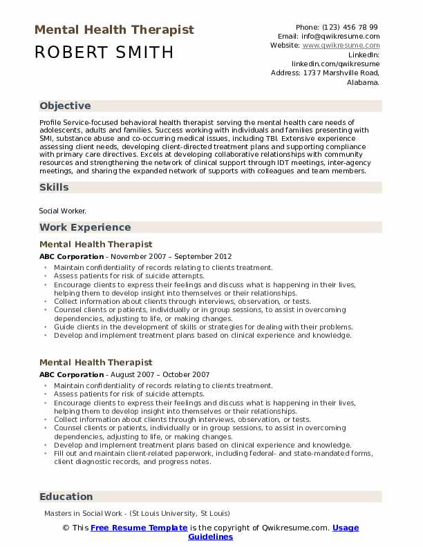 mental health therapist resume samples qwikresume examples pdf cisco voip network Resume Therapist Resume Examples