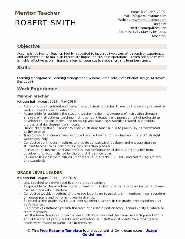 mentor teacher resume samples qwikresume line about mentoring pdf quotation specialist Resume Resume Line About Mentoring