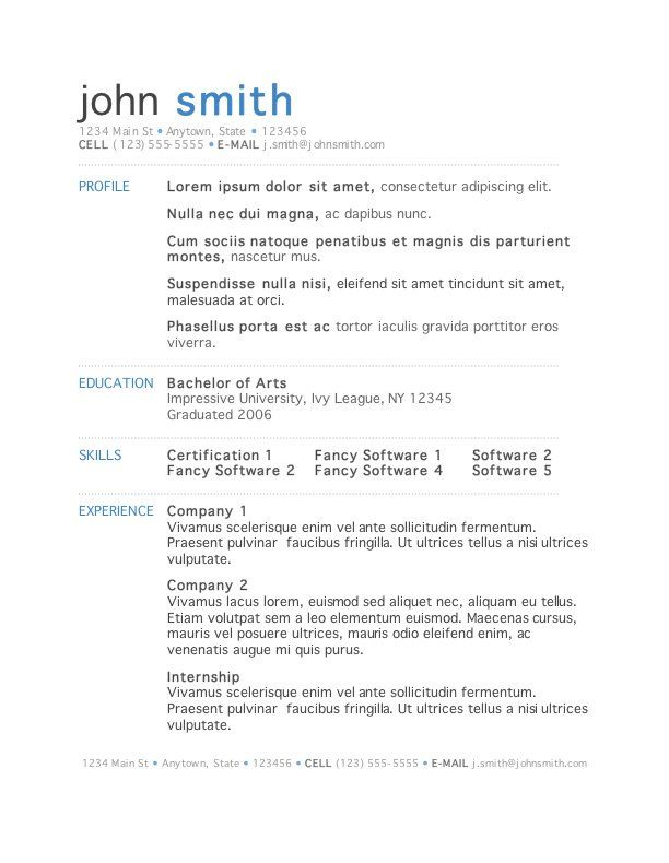 microsoft word is the clear winner among processors descriptio resume template free Resume Microsoft Resume Templates