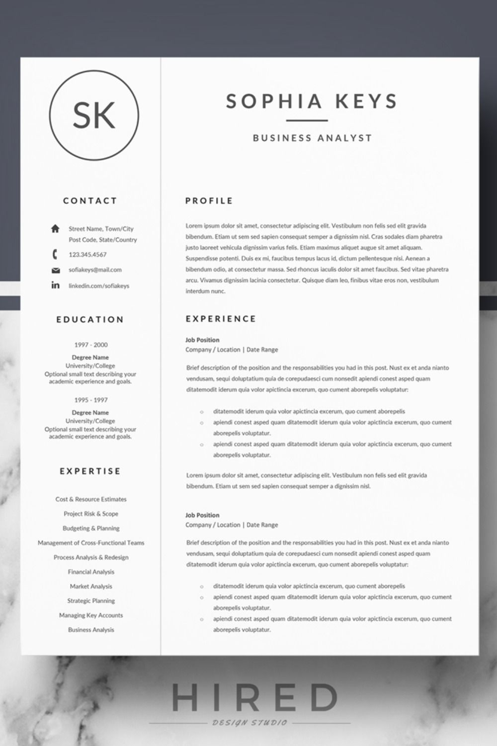 minimalist resume cv design matching cover letter format references for word pa reference Resume Appropriate References For Resume