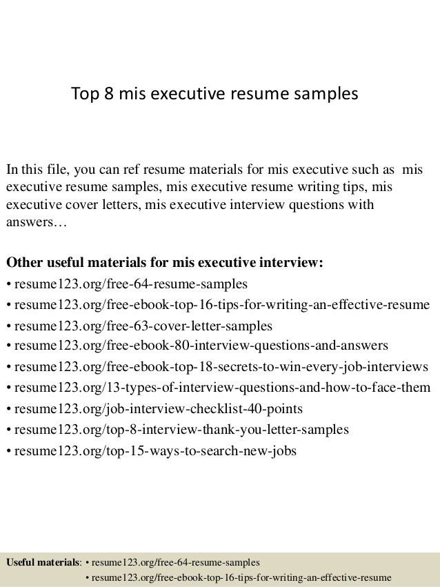 mis officer sample resume example manager top samples executive excel customer success Resume Mis Executive Resume Excel