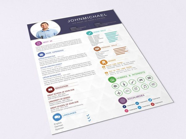 modern resume cv template free resumekraft totally templates with cover 600x450 student Resume Totally Free Resume Templates