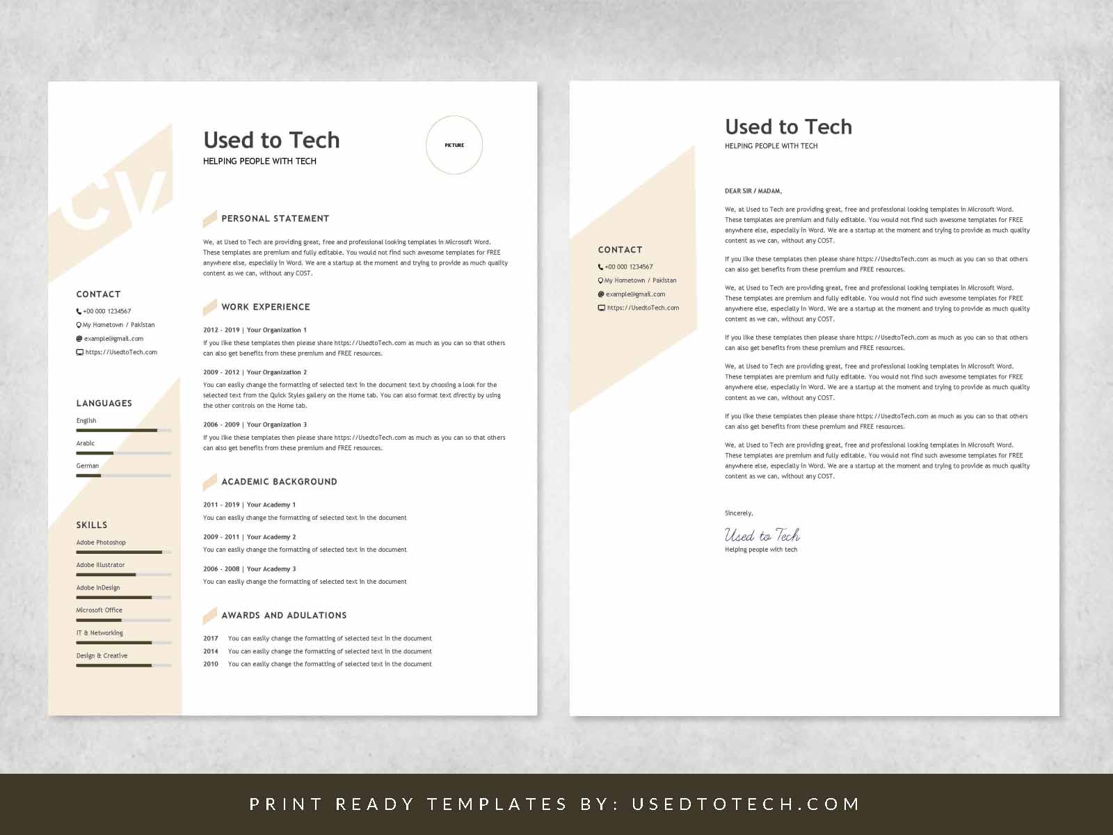 modern resume template in word free used to tech itil certified examples good for first Resume Resume 2019 Template Word