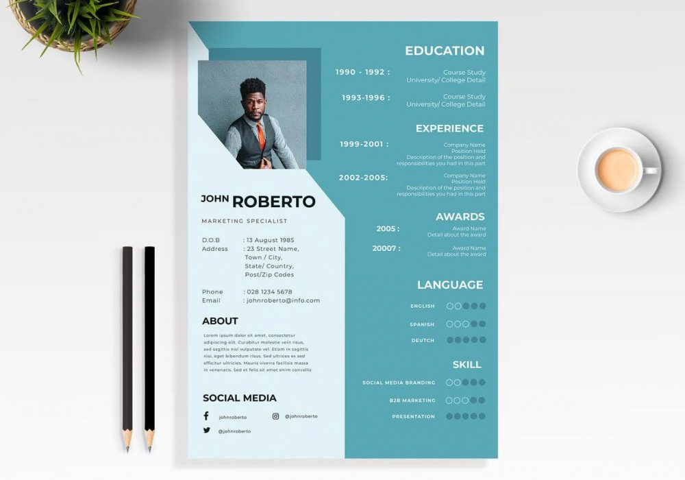 modern word resume template free maxresumes layout 1000x700 activities and interests Resume Resume Layout Free Download