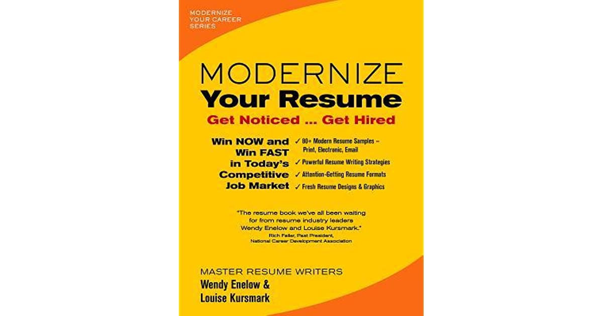 modernize your resume get noticed hired by wendy enelow uy630 sr1200 spin instructor dog Resume Modernize Your Resume Get Noticed Get Hired