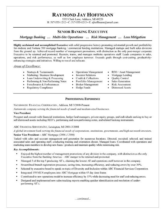 mortgage banker resume examples executive sample personal assets for biotech samples Resume Personal Assets For Resume