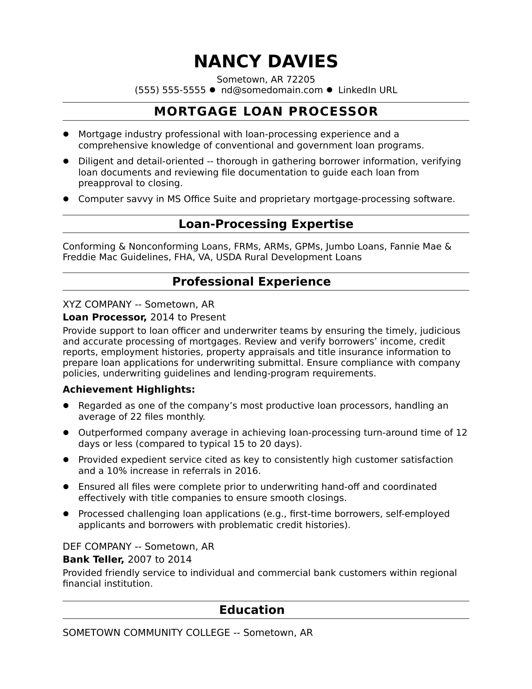 mortgage loan processor resume sample monster format guidelines air force crew chief Resume Resume Format Guidelines