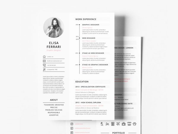 most popular free resume templates resumekraft template two creative 600x450 carpenter Resume Free Resume Template Download 2020
