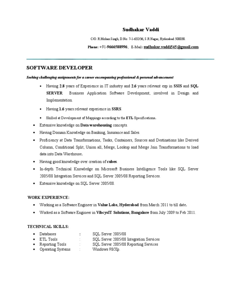 ms bi resume microsoft server business intelligence ssrs for years experience amazing Resume Ssrs Resume For 3 Years Experience