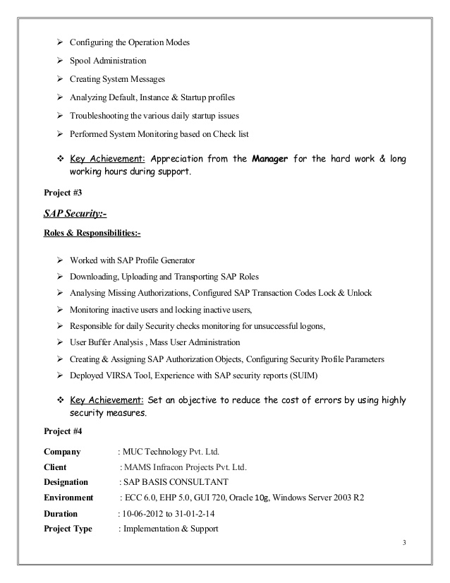 mubashir ahmed erp sap basis consultant resume with yr exp for years experience hospital Resume Sap Basis Resume For 3 Years Experience