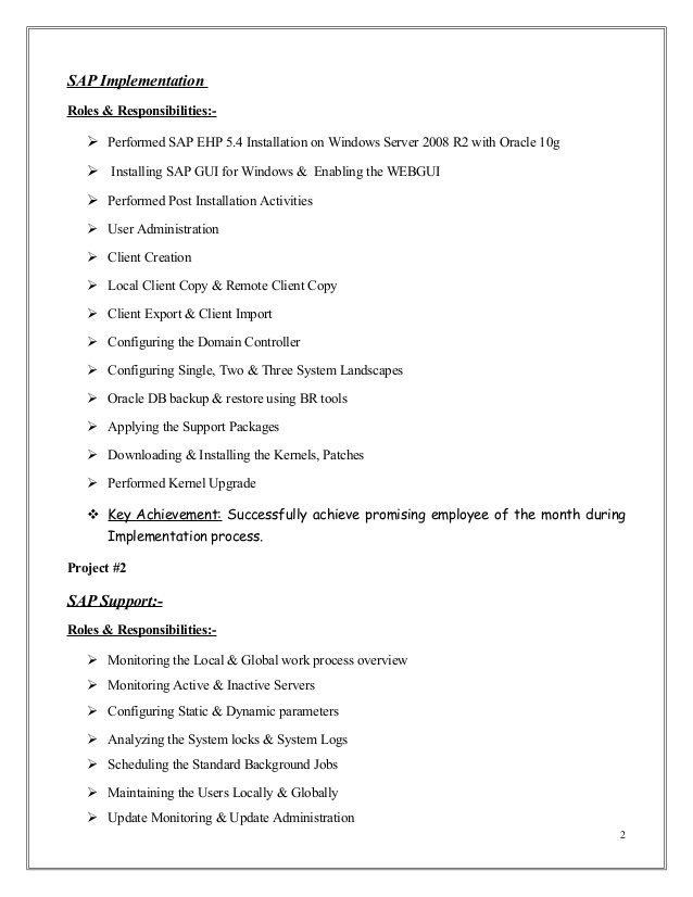 mubashir ahmed erp sap basis consultant resume with yr exp for years experience Resume Sap Basis Resume For 3 Years Experience