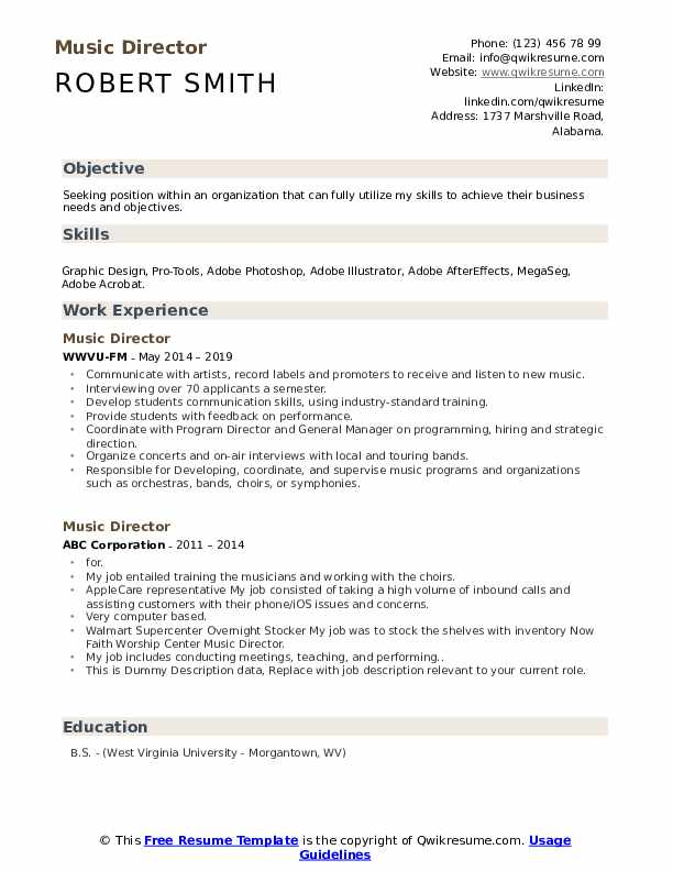 music director resume samples qwikresume industry sample pdf security job social services Resume Music Industry Resume Sample