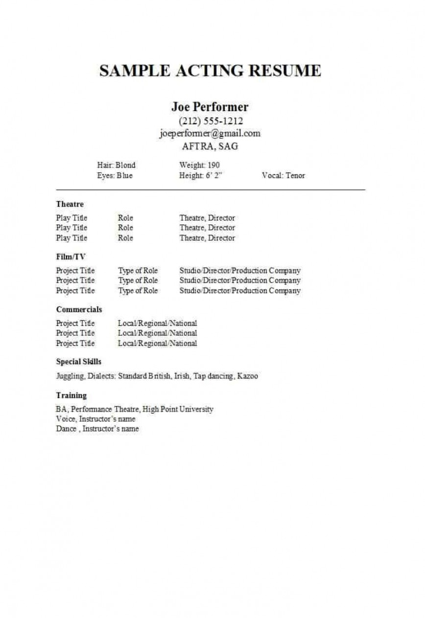 musical theatre resume template google docs addictionary theatrical incredible design Resume Theatrical Resume Template
