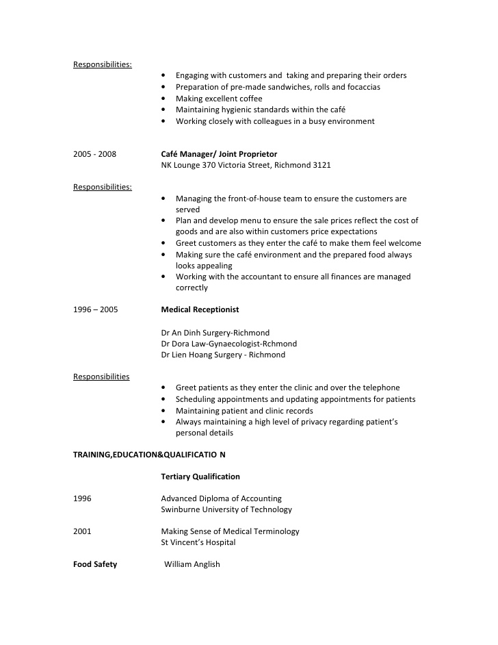 natalie hien dao resume for food service assistant customer assistantrtf appdynamics Resume Cafe Customer Service Resume
