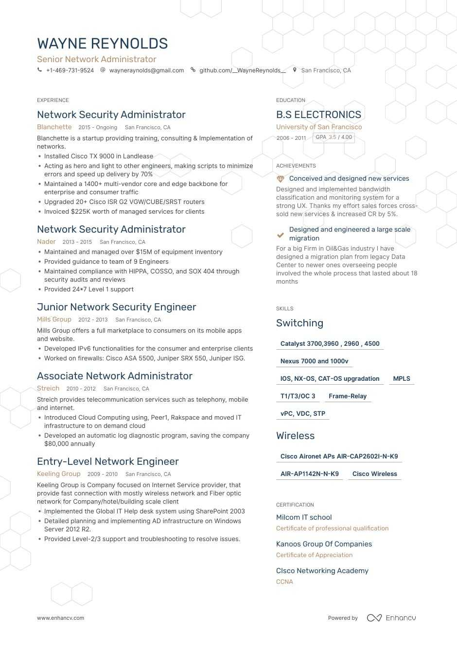 network administrator resume example cisco wireless engineer generated human voiced Resume Cisco Wireless Engineer Resume