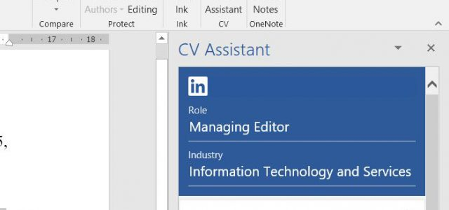 new cv assistant feature in word helps you polish your resumé tarsus today office resume Resume Office 365 Resume Assistant