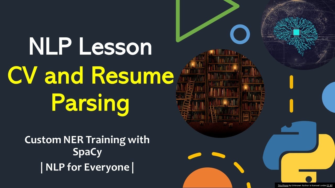 nlp tutorial cv and resume parsing with custom ner training spacy analysis legal samples Resume Resume Parsing And Analysis