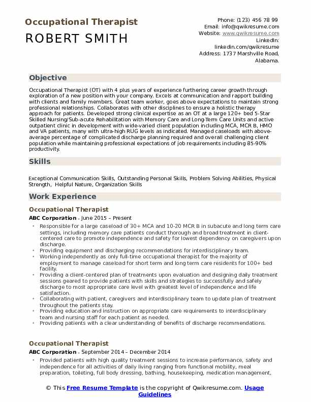 occupational therapist resume samples qwikresume examples pdf jamaican definition of Resume Resume Examples Occupational Therapist