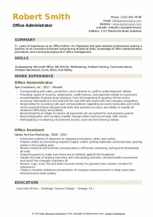 office admin resume samples qwikresume santiago template pdf should include photo on job Resume Santiago Resume Template
