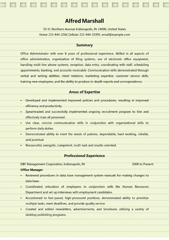 office administrator resume examples ms word duties for sample nursing aide without Resume Office Administrator Duties For Resume