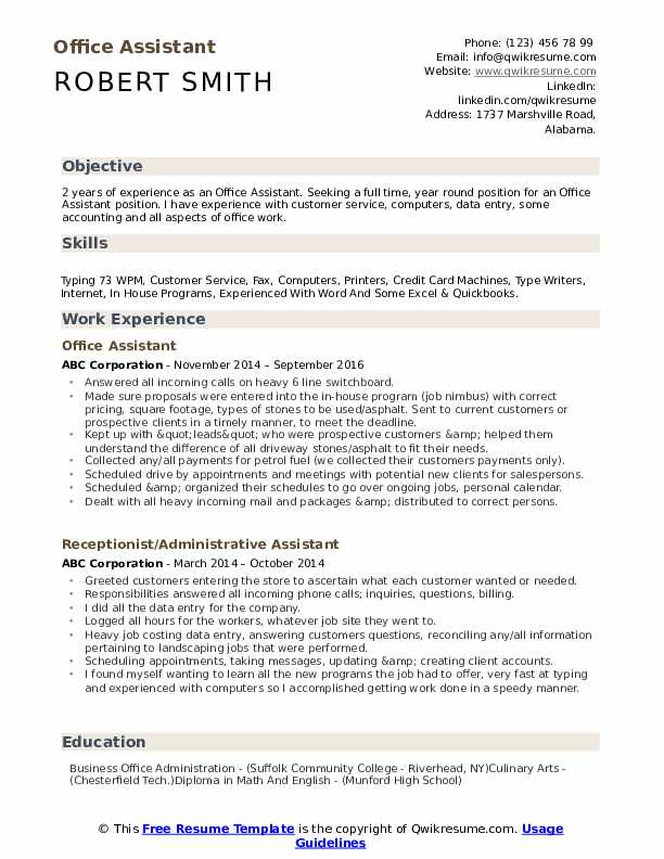 office assistant resume samples qwikresume high school objective pdf system administrator Resume High School Resume Objective