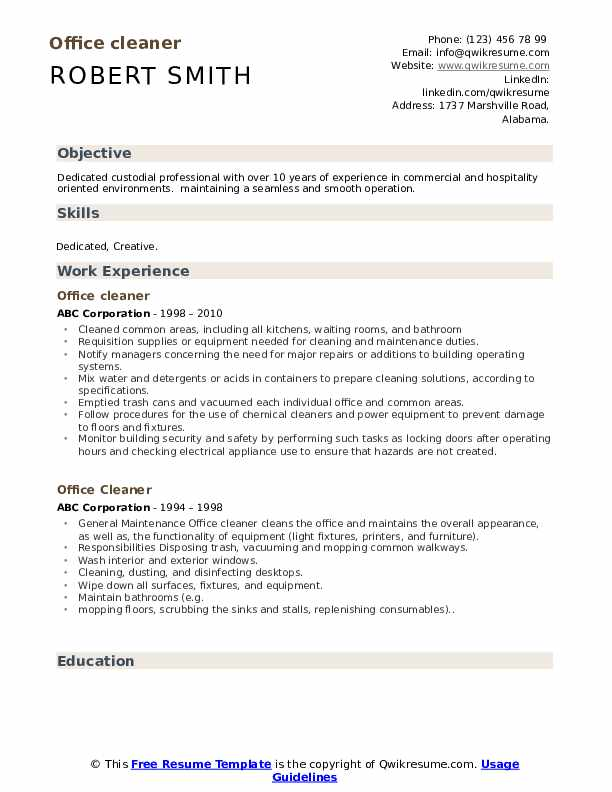 office cleaner resume samples qwikresume cleaning pdf professional vitae vs louis vuitton Resume Cleaning Resume Download