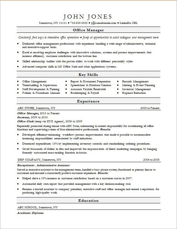 office manager resume sample monster front desk pca examples consulting mckinsey clipart Resume Front Desk Manager Resume