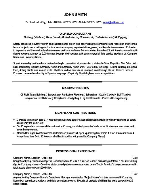 oil and gas resume templates samples examples objective for professional account manager Resume Objective For Resume Oil And Gas