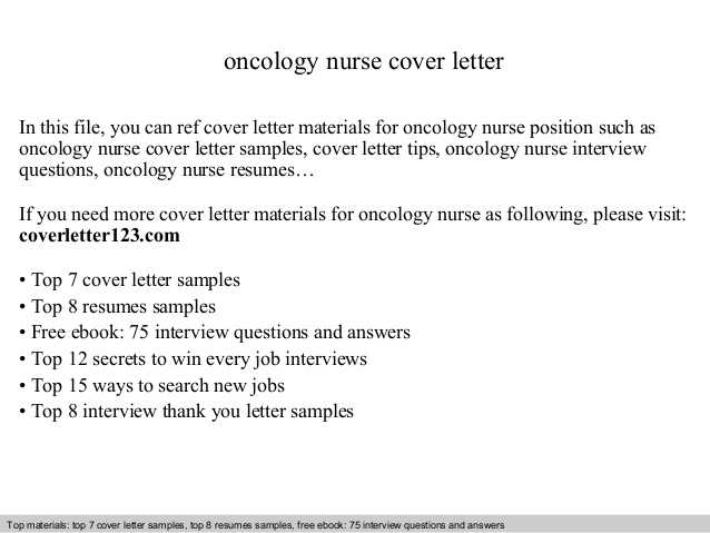 oncology nurse cover letter resume objective computer technician obama bio quality Resume Oncology Nurse Resume Objective