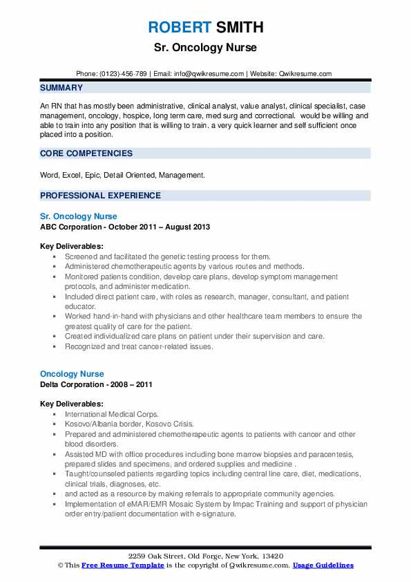 oncology nurse resume samples qwikresume objective pdf certifications on cost accountant Resume Oncology Nurse Resume Objective