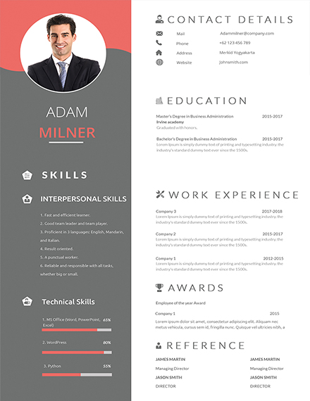 one resume examples in ms word indesign apple publisher single template bpo career rn Resume Single Page Resume Word Template