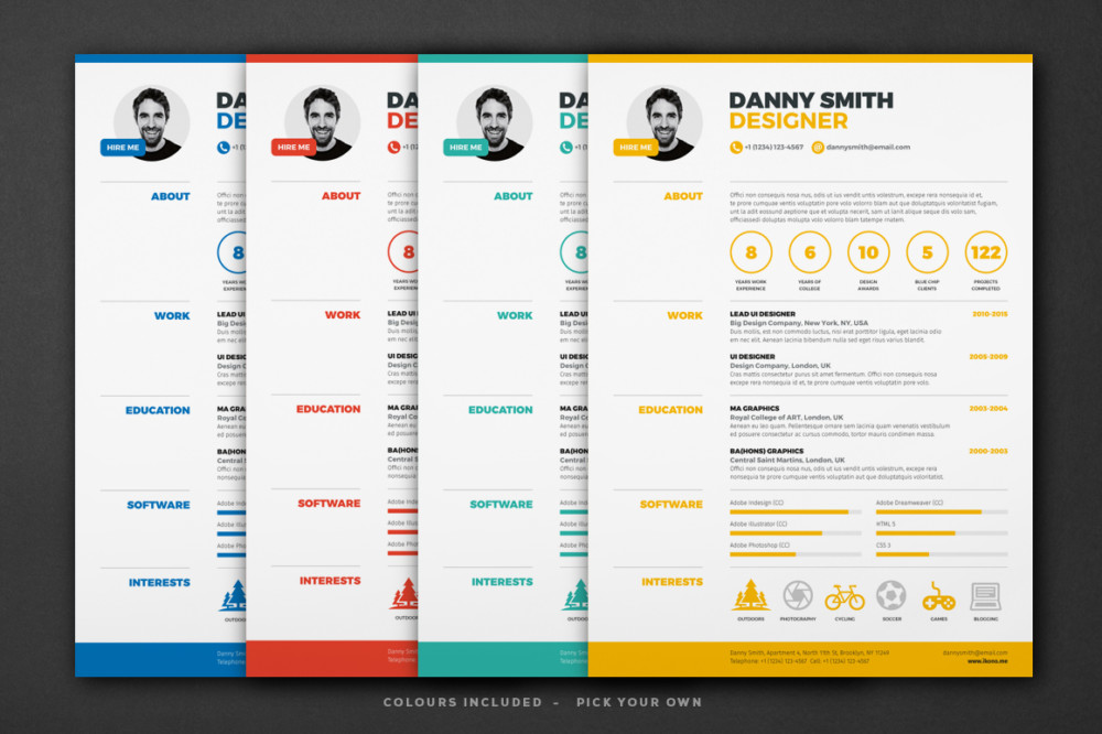 one resume template indesign and word format graphic single clean maintenance coordinator Resume Single Page Resume Word Template