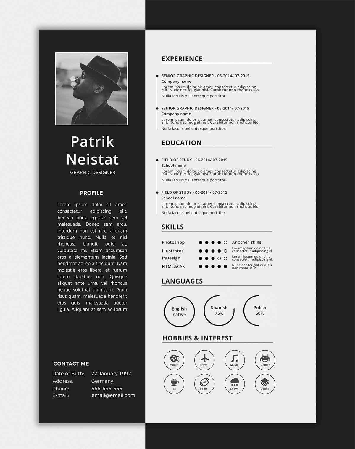 one resume templates examples of format single word template profile customer service Resume Single Page Resume Word Template