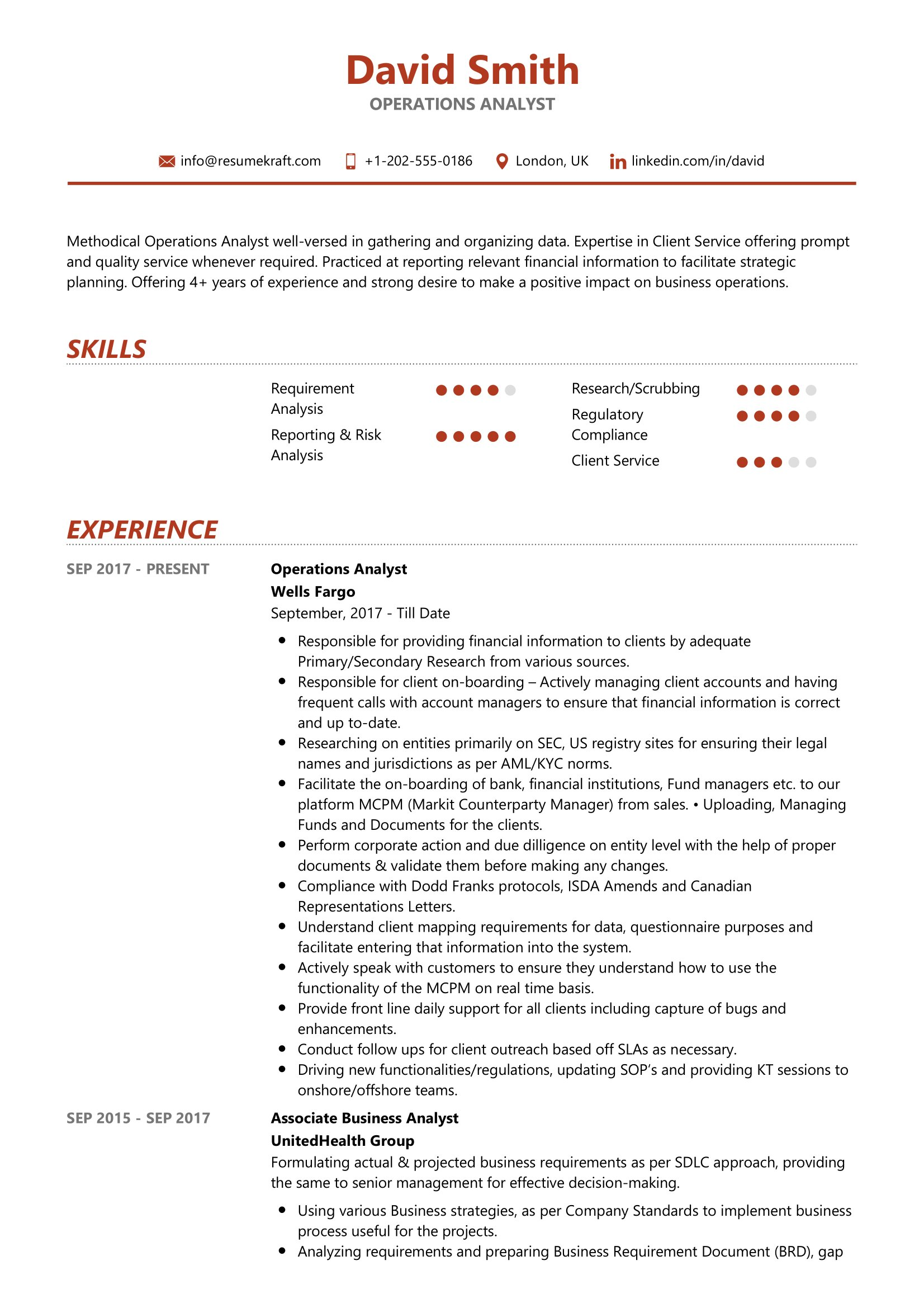 operations analyst resume sample resumekraft kyc example free templates for mac paper and Resume Kyc Analyst Resume Example