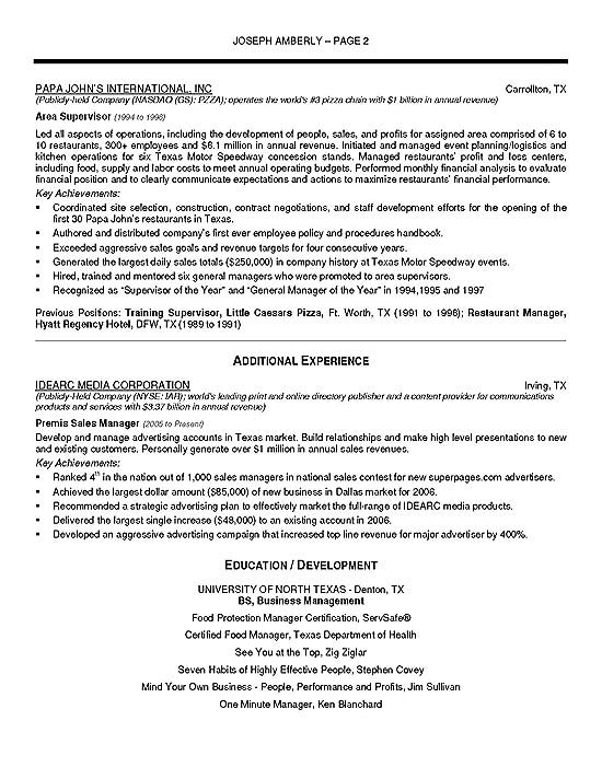 operations manager resume example summary sample management9b format for new graduates ex Resume Operations Manager Summary Resume