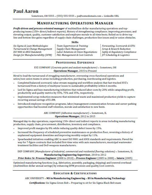 operations manager resume sample monster hospice liaison event coordinator spelling Resume Operations Manager Resume