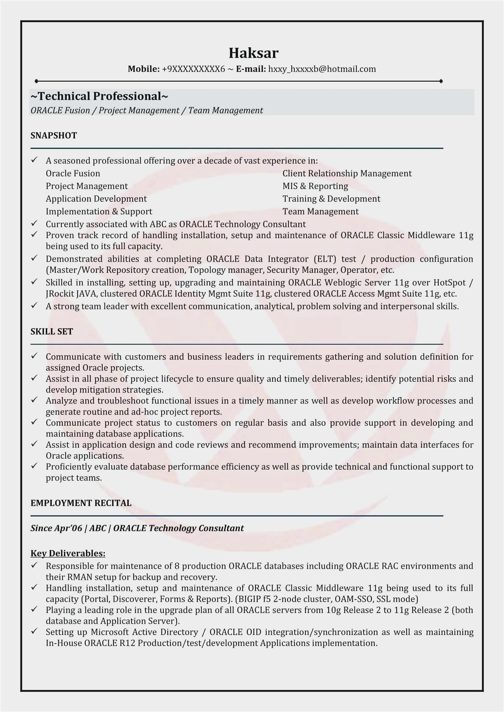oracle resume format for experienced sample with years experience entry level teacher Resume Resume With 2 Years Experience